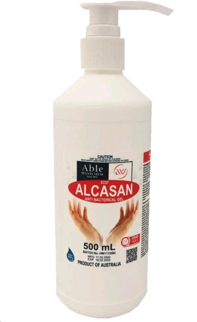 ALCASAN Hand Sanitiser (500ml) HAZ3 [MADE IN W.A.]