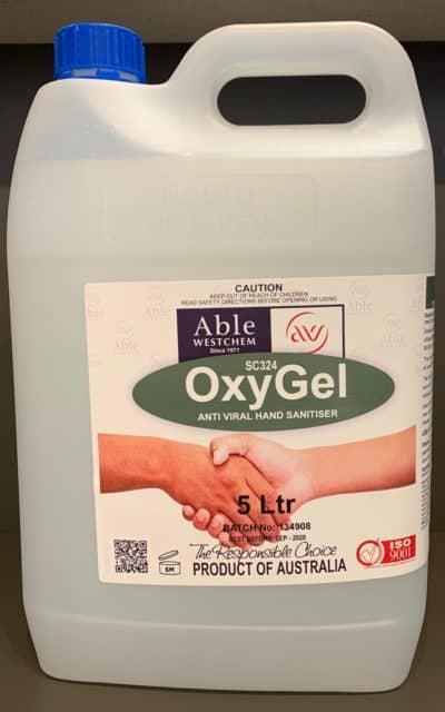 OXYGEL ANTI VIRUS/ BACTERIAL HAND SANITISER 5L