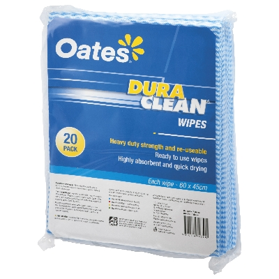 ED OATES DURACLEAN WIPES- 20 PACK BLUE