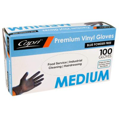 CAPRI VINYL GLOVES BLUE POWDERFREE MED [100pcs]