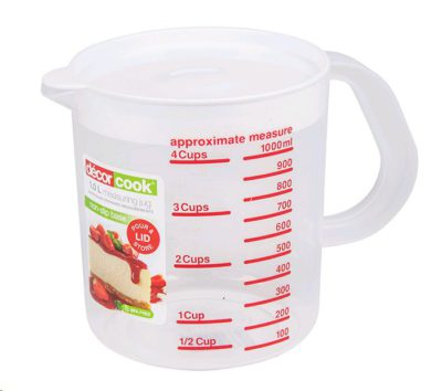 Decor Cook® Measuring Jug with Lid 1L