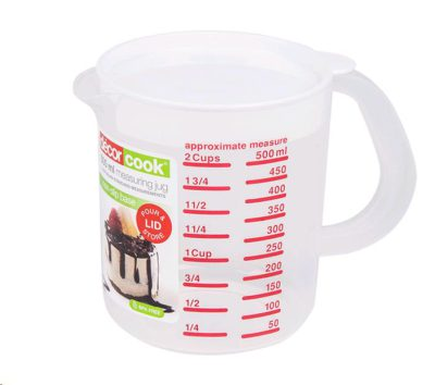 Decor Cook® Measuring Jug with Lid 500ml