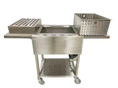 PRO BBQ GRILL TROLLEY S/S 600x500x850 (assembled)