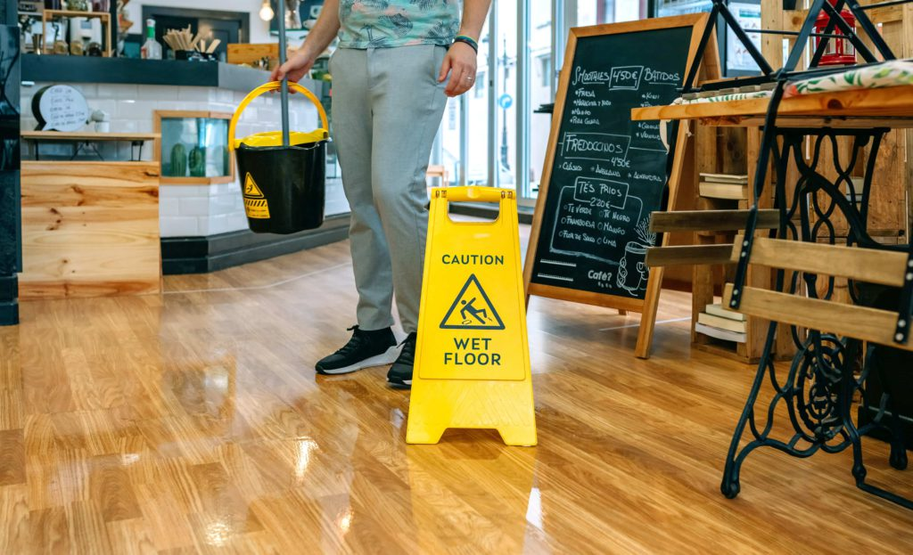 Cleaning Restaurant Floor