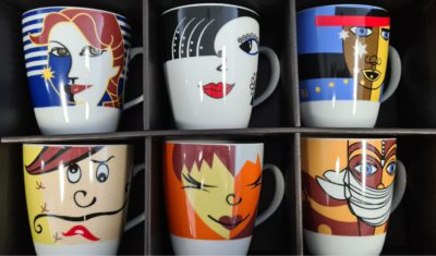 INCASA FACE COFFEE MUG 350ml (6pcs per set)