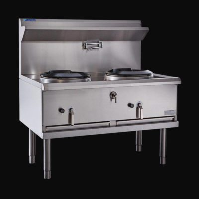 LUUS ASIAN SERIES DOUBLE BURNER COMPACT WOK WX-2C