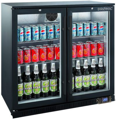 BROMIC 2 DOOR BACK BAR DISPLAY CHILLER 190L (BB200GD-NR)