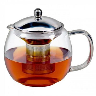 INCASA GLASS TEAPOT 450ml w/ S/S INFUSER