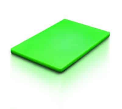 CUTTING BOARD GREEN 530x325x20mm 1/1 GN SIZE