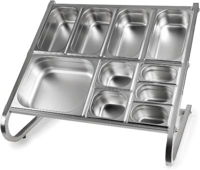 LACOR GN PAN PREP STAND DOUBLE (excluding pans)