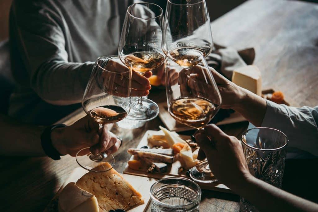 Wine bar glasses